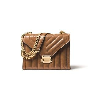 NEW Michael Kors Whitney ACORN Leather Large Shoul